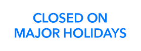 Contact Info: CLOSED ON MAJOR HOLIDAYS